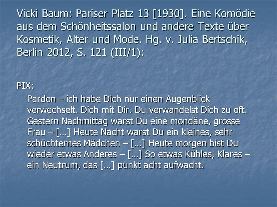 Vicki Baum: Pariser Platz 13 [1930]